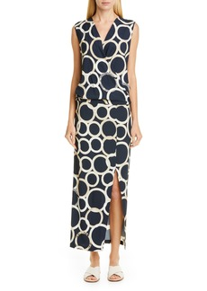 Zero + Maria Cornejo Jazmin Circle Print Faux Wrap Midi Dress