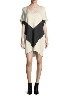 Zero + Maria Cornejo Kai Chevron Tunic Dress