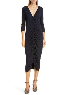 Zero + Maria Cornejo Kiara Ruched Midi Dress