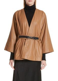 Zero + Maria Cornejo Leather Wrap Jacket