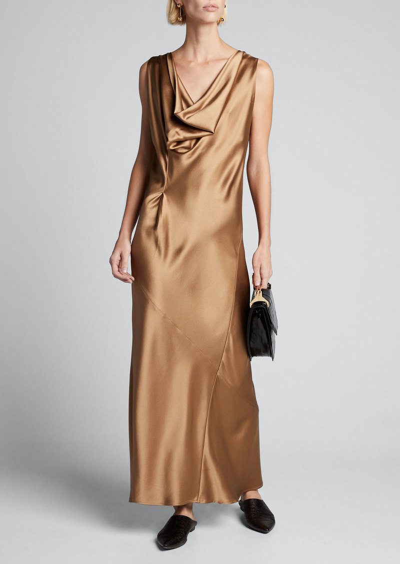 Zero + Maria Cornejo Liana Long Satin Dress