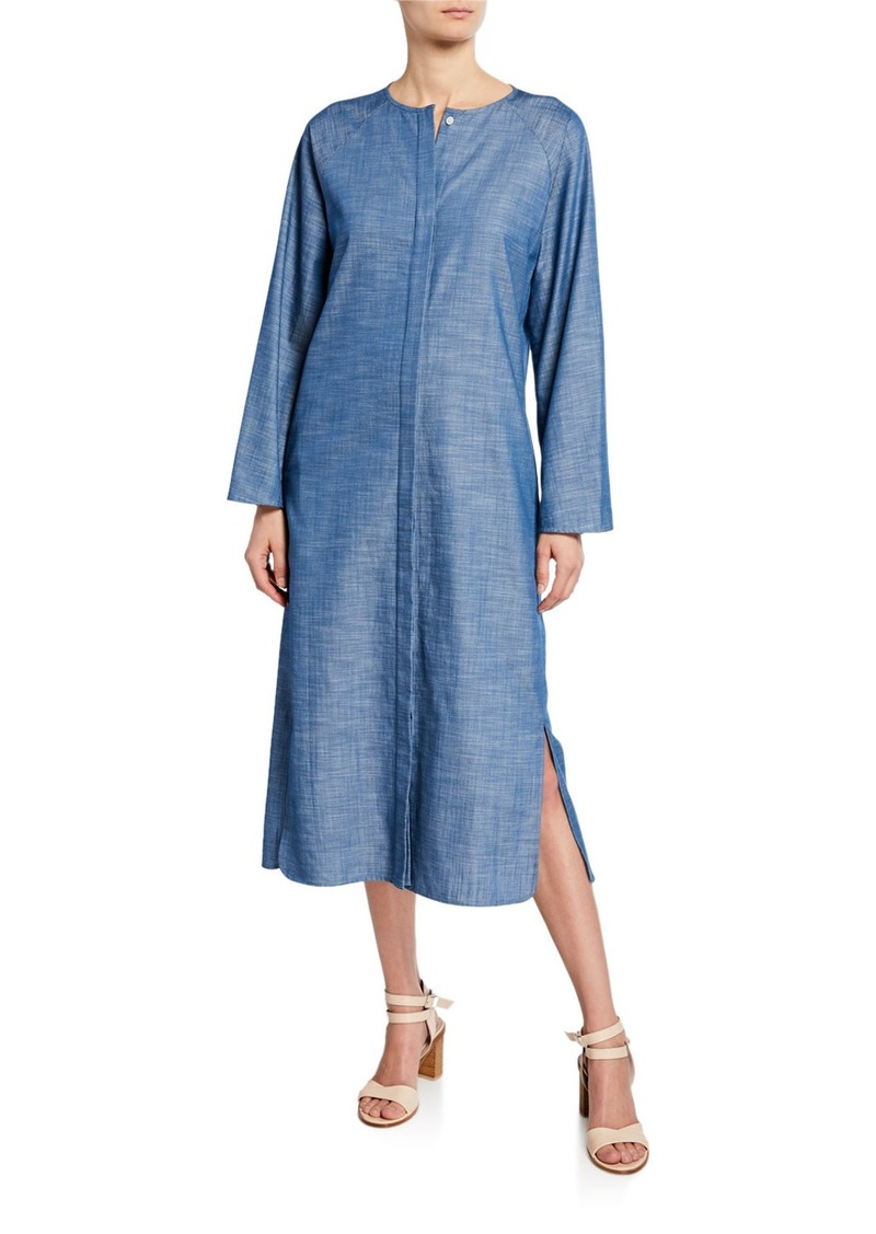 Zero + Maria Cornejo Luca Chambray Midi Shirtdress
