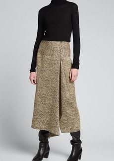 Zero + Maria Cornejo Miro Draped Midi Skirt