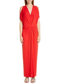 Zero + Maria Cornejo Miu Cold Shoulder Sim Jersey Maxi Dress
