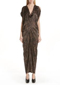 Zero + Maria Cornejo Miu Hair Print Stretch Silk Dress