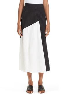Zero + Maria Cornejo Mosa Colorblock Midi Skirt