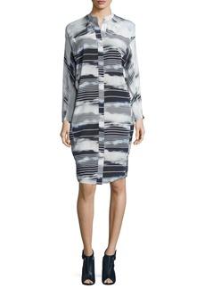 Zero + Maria Cornejo Nanu Striped Stretch-Silk Shirtdress