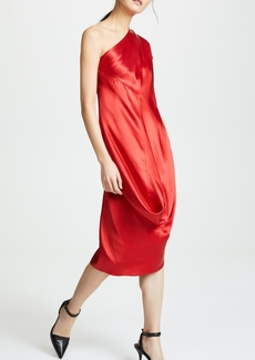 Zero + Maria Cornejo One Shoulder Loop Dress