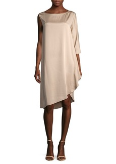 Zero + Maria Cornejo One-Sleeve Wrap Dress