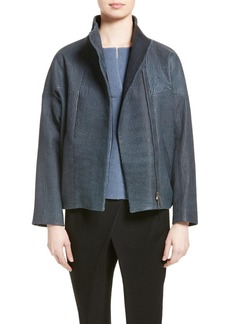 Zero + Maria Cornejo Osita Leather Bomber Jacket