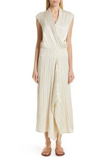 Zero + Maria Cornejo Plissé Linen & Silk Dress