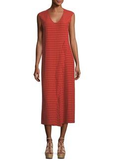 Zero + Maria Cornejo Printed Cap-Sleeve Midi Dress