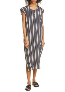 Zero + Maria Cornejo Rae Stripe Caftan Dress