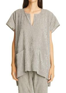 Zero + Maria Cornejo Rae Stripe Cotton Tunic Top