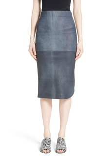 Zero + Maria Cornejo Rai Leather Curved Skirt