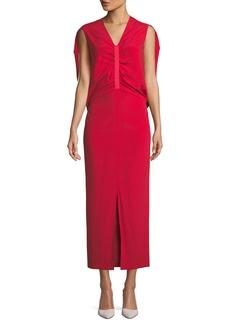 Zero + Maria Cornejo Ruched Butterfly Silk Dress