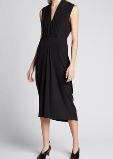 Zero + Maria Cornejo Sacha V-Neck Column Midi Dress