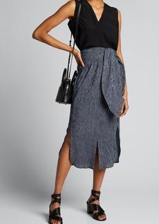 Zero + Maria Cornejo Shirt-Wrapped Cotton Skirt