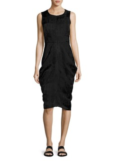 Zero + Maria Cornejo Sleeveless Draped Jacquard Dress