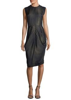 Zero + Maria Cornejo Sleeveless Metallic Goa Dress