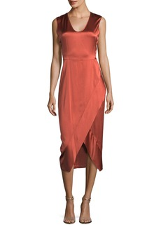 Zero + Maria Cornejo Sleeveless Scoop-Neck Satin Dress
