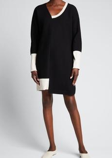 Zero + Maria Cornejo Splice Colorblock Shift Dress