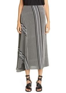 Zero + Maria Cornejo Stripe Circle Midi Skirt