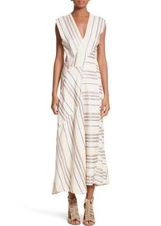 Zero + Maria Cornejo Stripe Midi Dress