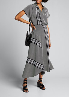 Zero + Maria Cornejo Striped Cotton Circle Skirt
