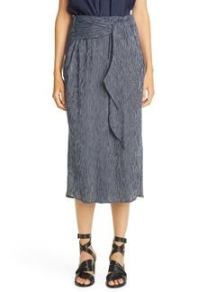 Zero + Maria Cornejo Tie Front Cotton Midi Skirt