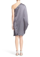 Zero + Maria Cornejo 'Triptych' One-Shoulder Light Doppio Dress
