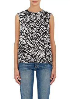 Zero + Maria Cornejo Women's Abstract-Print Silk-Blend Blouse