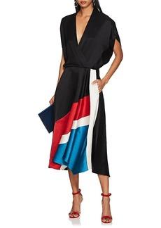 Zero + Maria Cornejo Women's Aki Colorblocked Slub Twill Midi-Dress