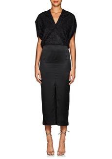 Zero + Maria Cornejo Women's Aki Silk Fil Coupé Fitted Wrap Dress