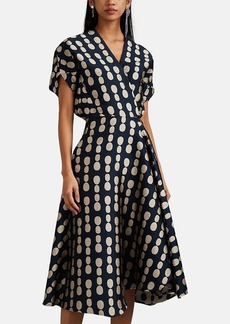 Zero + Maria Cornejo Women's Aki Wave Dot-Jacquard Dress