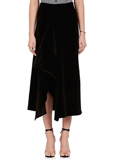 Zero + Maria Cornejo Women's Asymmetric Stretch-Cotton Velvet Skirt