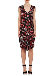 Zero + Maria Cornejo Women's Aura Book-Print Stretch-Silk Shift Dress