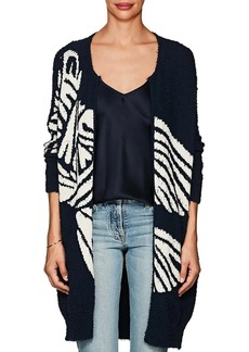 Zero + Maria Cornejo Women's Bow Cotton-Blend Long Cardigan