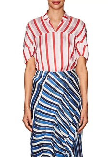 Zero + Maria Cornejo Women's Concave Striped Twill Blouse