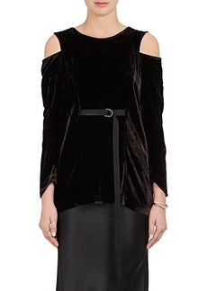 Zero + Maria Cornejo Women's Crushed Velvet Cutout Top