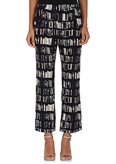 Zero + Maria Cornejo Women's Eko Book-Print Stretch-Silk Pants