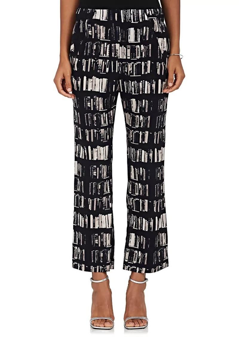 Womens Eko Book-Print Stretch-Silk Pants Zero + Maria Cornejo iRfQP7S