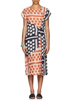 Zero + Maria Cornejo Women's Geometric Linen Midi-Dress