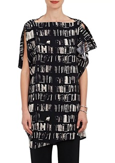 Zero + Maria Cornejo Women's IQ Book-Print Stretch-Silk Tunic