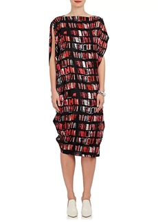 Zero + Maria Cornejo Women's IQ Book-Print Stretch-Silk Tunic Dress