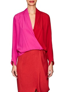 Zero + Maria Cornejo Women's Jazmin Colorblocked Silk Blouse
