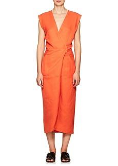 Zero + Maria Cornejo Women's Kaia Slub-Twill Wrap Dress
