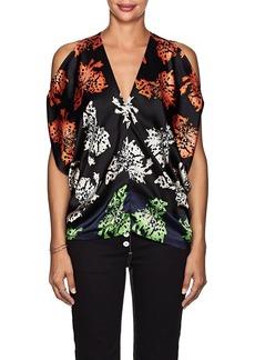Zero + Maria Cornejo Women's Kou Floral Stretch-Silk Blouse