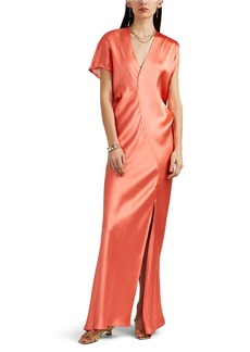 Zero + Maria Cornejo Women's Laila Asymmetric Satin Dress