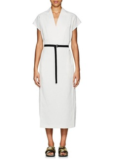 Zero + Maria Cornejo Women's Leah Belted Tech-Twill Long Dress